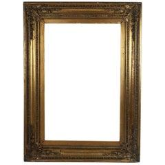 Large Antique Gilt Picture Frame in Renaissance Revival Style