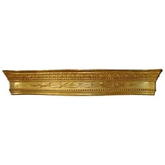 Large Antique Giltwood Valance from Sicily, circa 1830