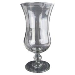 Large Antique Glass Flower or Hurricane Vase, English, 19th Century