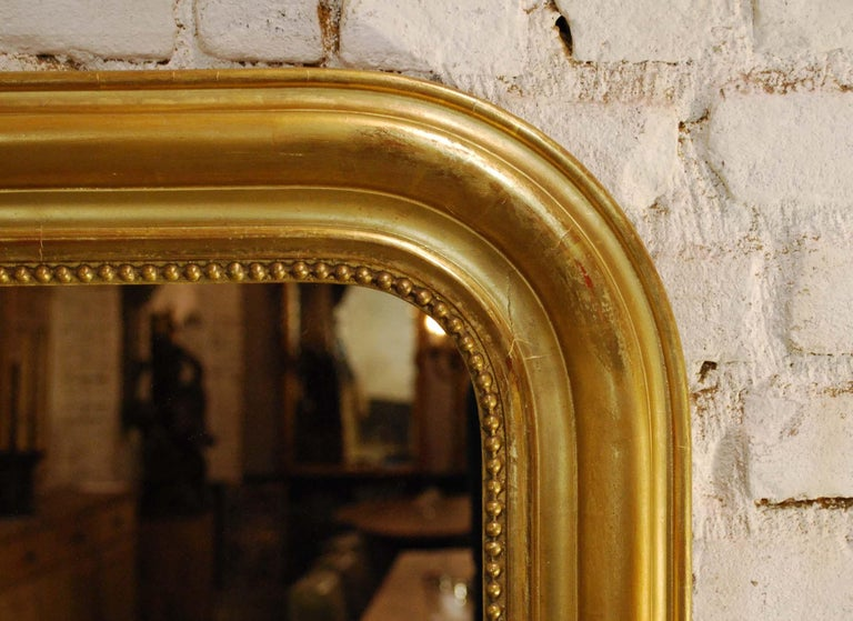 19th Century Large Antique Gold Gilt French Louis Philippe Mirror For Sale