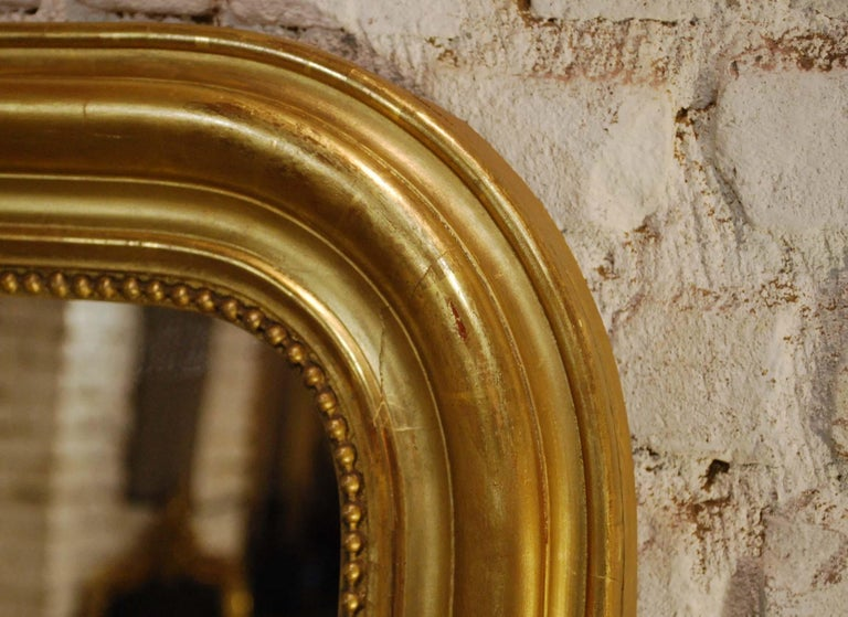 Large Antique Gold Gilt French Louis Philippe Mirror For Sale 1