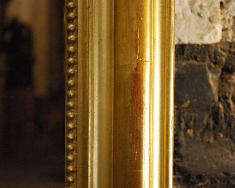 Large Antique Gold Gilt French Louis Philippe Mirror For Sale 2