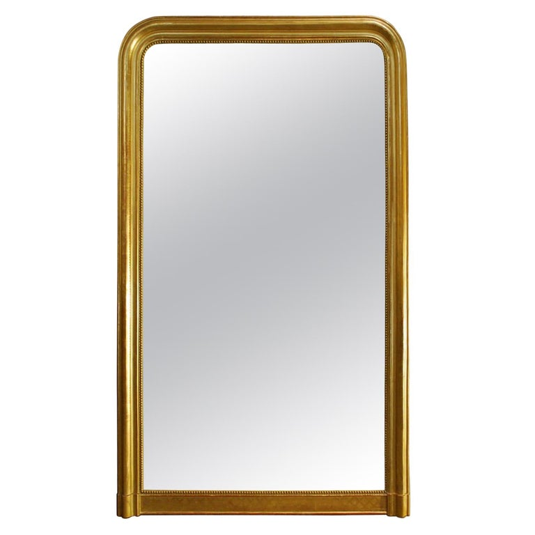 Large Antique Gold Gilt French Louis Philippe Mirror For Sale