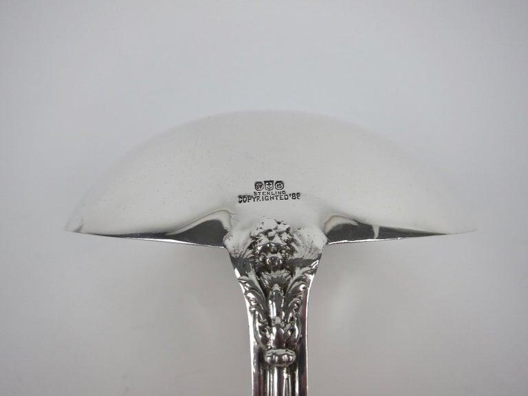 Large Antique Gorham Sterling Silver Soup Ladle, Versailles by Antoine Heller For Sale 5