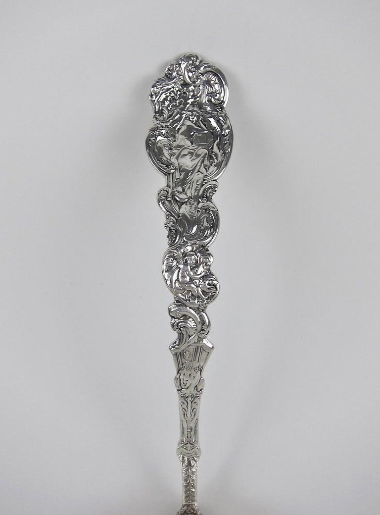 Large Antique Gorham Sterling Silver Soup Ladle, Versailles by Antoine Heller For Sale 11