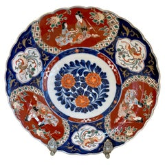 Large Antique Hand Painted Japanese Imari Charger