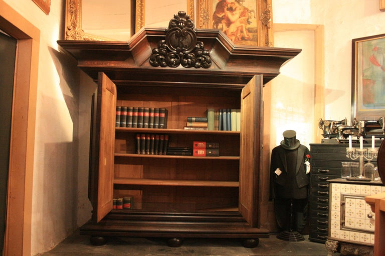19th Century Large antique Historicism Cabinet made of solid oak, Germany, circa 1880 For Sale