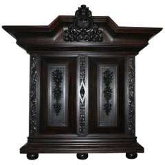 Large antique Historicism Cabinet made of solid oak, Germany, circa 1880