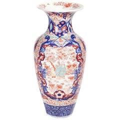Large Antique Imari Porcelain Vase