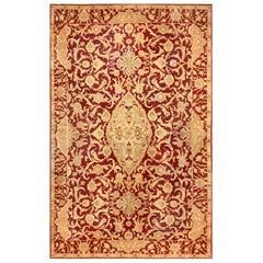 Large Antique Indian Agra Rug. Size: 14 ft. 6 in x 21 ft. 10 in