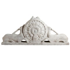 Large Antique Indian Carved Marble Lintel