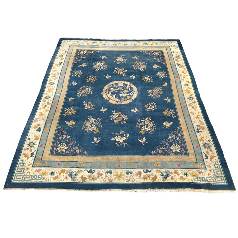 Antique Chinese Rug: Large Antique Indo-China Art Deco Rug Antique Chinese Rugs