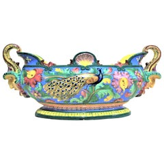 Large Antique Italian Faience Centrepiece Bowl