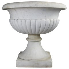 Large Antique Italian Marble Urn