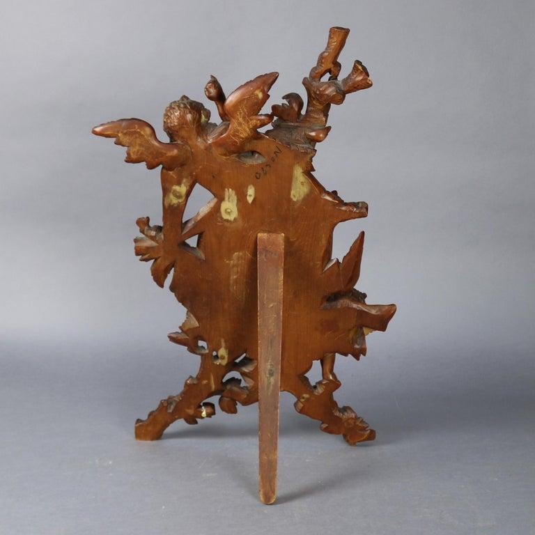 Large Antique Italian Rococo Figural Hand Carved Cherub Table Mirror For Sale 1