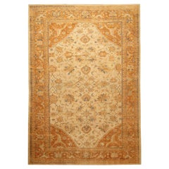 """Large Antique Ivory Background Persian Sultanabad Rug. Size: 11' 10"""" x 16' 5"""""""