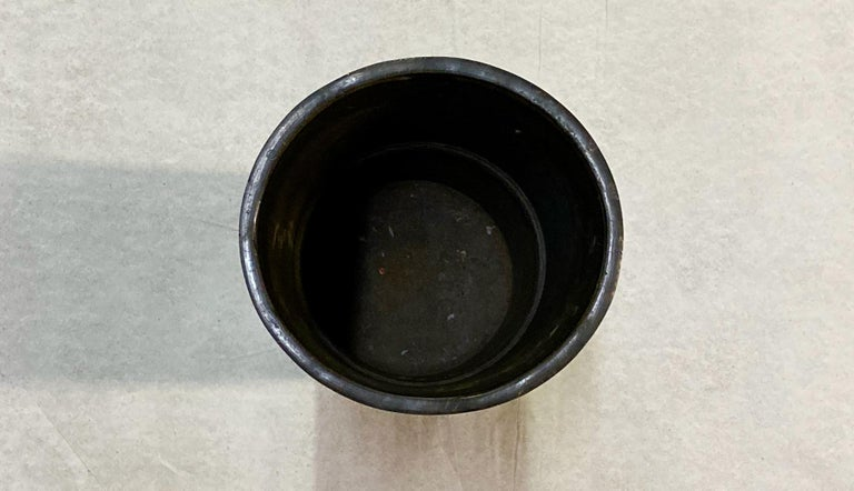Large Antique Japanese Bronze Champlevé Enamel Umbrella Stand or Floor Vase For Sale 5