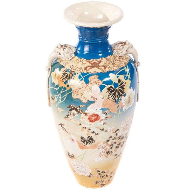 Large And Impressive Japanese Satsuma Vase For Sale At 1stdibs