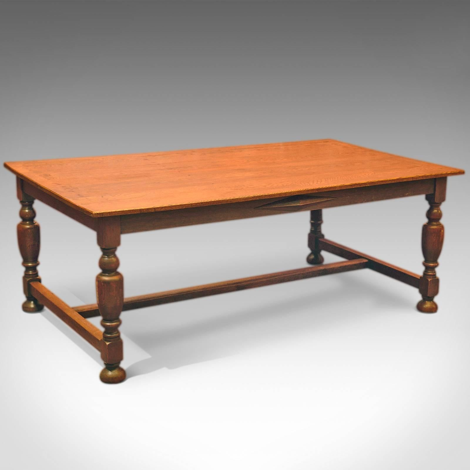 Large Antique Kitchen Table Victorian Dining Oak Circa 1900 At 1stdibs