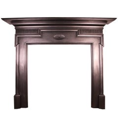 Large Antique Late Victorian Cast Iron Fire Surround
