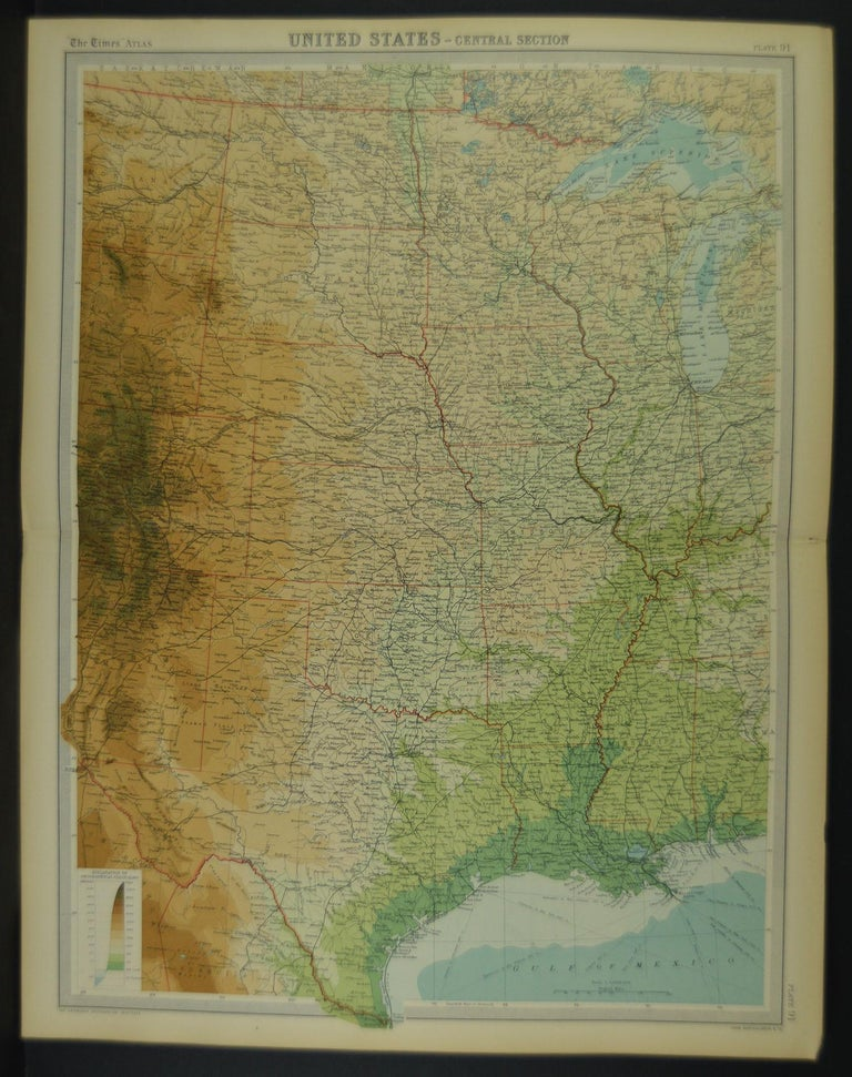 British Large Antique Map of the United States, in 4 Sections For Sale