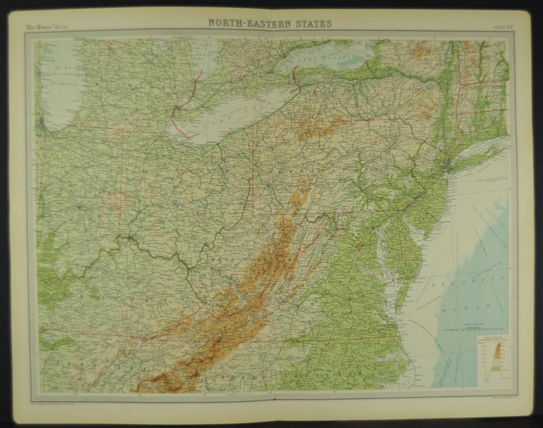 Early 20th Century Large Antique Map of the United States, in 4 Sections