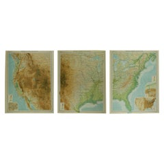 Large Antique Map of the United States, in 4 Sections