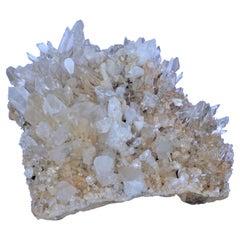 Large Antique Natural Quartz Crystal Cluster Specimen