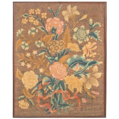 Large Antique Needlework Tapestry Picture, English, Early 18th Century
