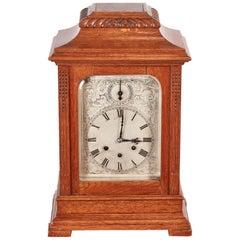 Large Antique Oak 8 Day Bracket Clock