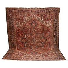 Large Antique Orient Rug, Carpet, Hand Knotted