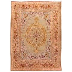 Large Antique Oushak Handmade Wool Rug