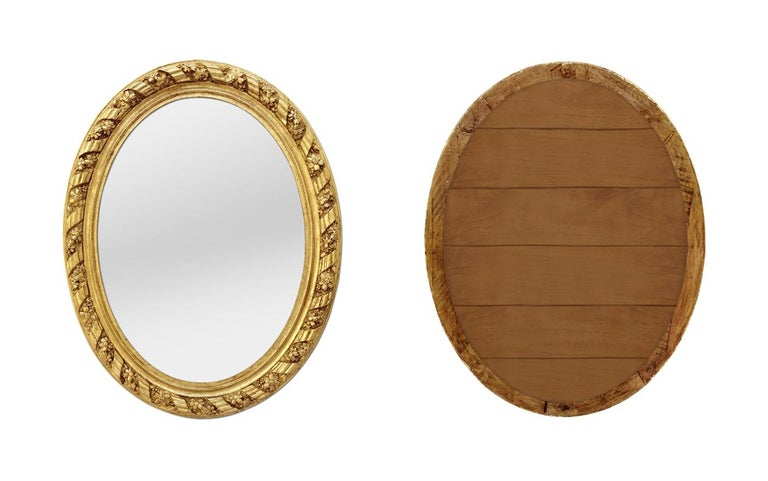 Large Antique Oval French Mirror, circa 1880 In Good Condition For Sale In Paris, FR
