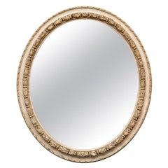 Large Antique Oval Mirror in Gustavian Style