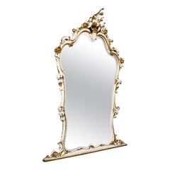 Large Antique Overmantel Mirror, French, Gilt Gesso, Classical, Italianate, 1900