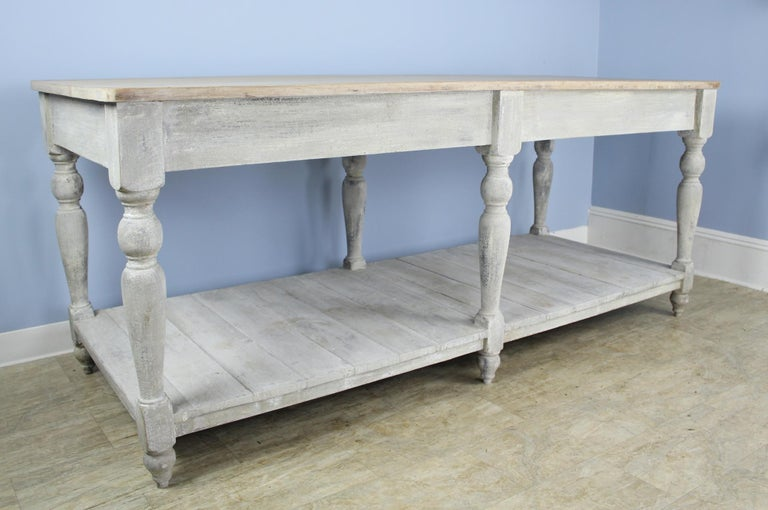 Large Antique Painted Prep or Draper's Table For Sale 4