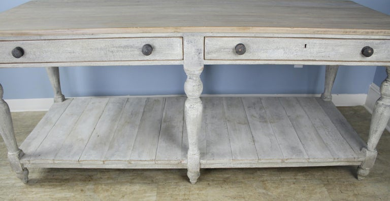 19th Century Large Antique Painted Prep or Draper's Table For Sale