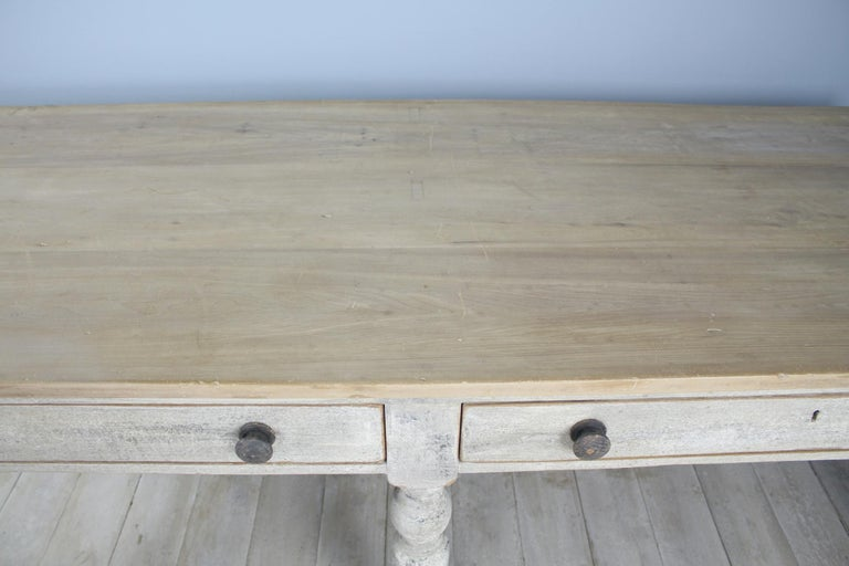 Large Antique Painted Prep or Draper's Table For Sale 1