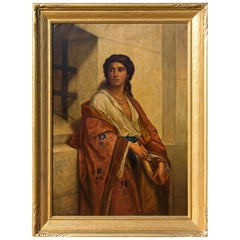 Large Antique Painting of Salome