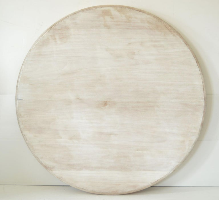 Mid-19th Century Large Antique Palladian Style Bleached Mahogany Round Table For Sale