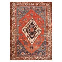 Large Antique Persian Bakshaish Rug
