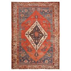 Large Antique Persian Bakshaish Rug. Size: 13 ft x 18 ft 2 in (3.96 m x 5.54 m)