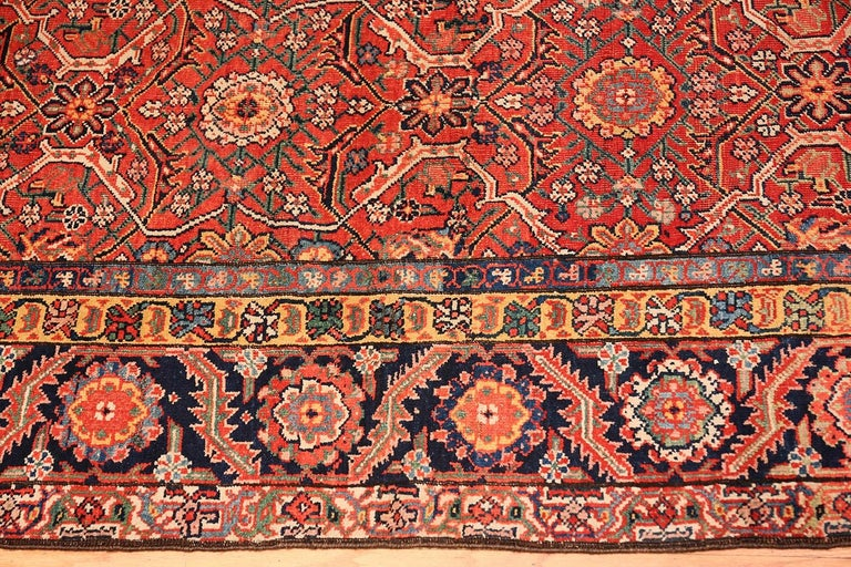Sarouk Farahan Large Antique Persian Farahan Carpet For Sale