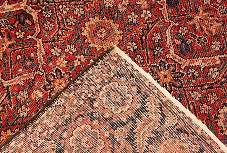 Wool Large Antique Persian Farahan Carpet For Sale
