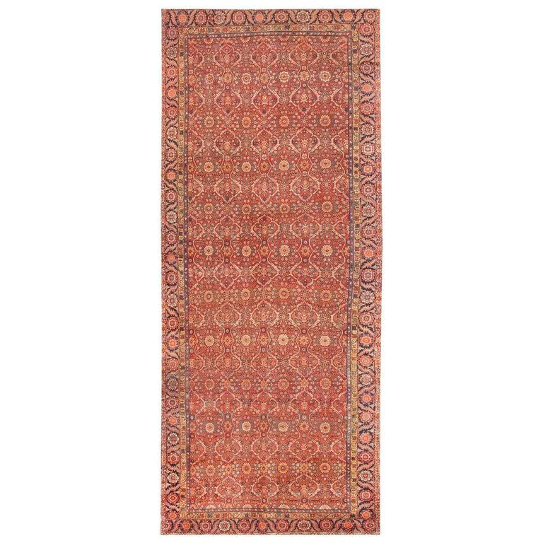 Large Antique Persian Farahan Carpet For Sale