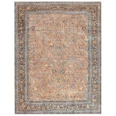 Large Antique Persian Kerman Rug. Size: 11 ft 10 in x 15 ft 6 in