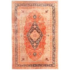 Large Antique Persian Mohtashem Kashan Rug. Size: 11 ft 9 in x 17 ft