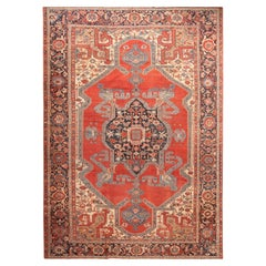 Large Antique Persian Serapi Area Rug. 11 ft 8 in x 16 ft 6 in
