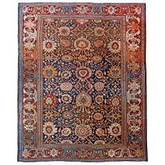Large Antique Persian Ziegler Sultanabad Rug