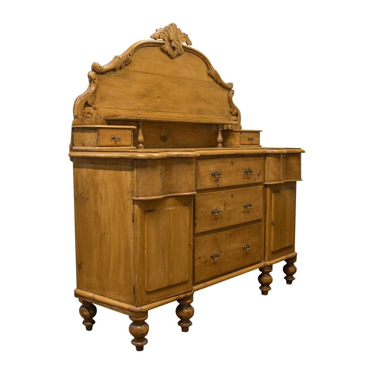 Large Antique Pine Sideboard French